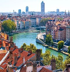 Lyon, hoofdstad van Rhone Alpes